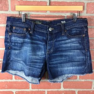 J.Crew Indigo Denim Cut Off Shorts
